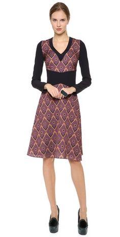 Giulietta Venere Dress in Print Jacquard