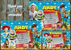 Toy Story Invitation, Toy Story Birthday Party Invitation | PapelPintadoDesigns - on ArtFire
