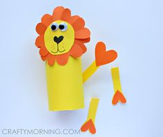 toilet paper roll lion