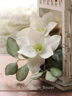 Эухарис Запись вебинара летней перезагрузки' 2015   - авторская выкройка  - стильный, красивый цветок для букета или аксессуара Купить тут: https://whiteliliya.autoweboffice.ru/?r=ordering/cart/as1&id=25&clean=true&lg=ru