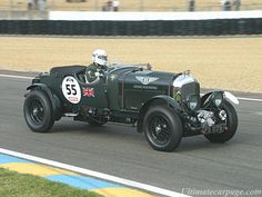"""I'd never drive it (frankly it would terrify me), but it is the archetypal pre-war British performance car, and I would simply gaze at it.  It HAS to be British racing green (as is this one), and there have to be leather straps securing the bonnet (""""hood"""" to the cousins).  The Blower Bentley, ladies and gentlemen."""