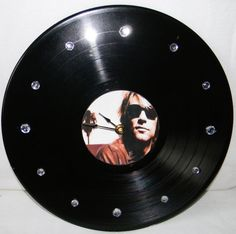BON JOVI Vinyl Record Clock by PandorasCreations on Etsy, $25.00