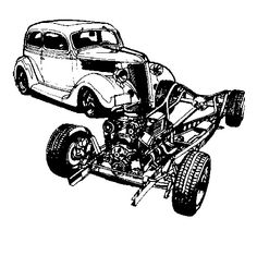 177 best hotrod clip art images in 2019 drawings of cars car 1957 Pontiac Cars tractors hot rods truck clip art coloring trucks tractor pulling