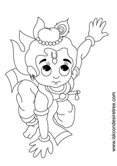 krishna coloring - Google Search