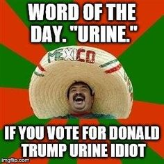 Word of the day. URINE