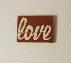 Typography Wall Art LOVE Wood Sign by JHomeStudios on Etsy