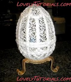 Мк Яйцо филигрань из королевской глазури -Royal Icing filigree egg tutorial - Мастер-классы по украшению тортов Cake Decorating Tutorials (How To's) Tortas Paso a Paso