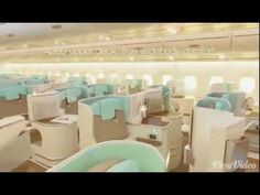 Airbus A380 unbelievable interior. For those with extremely rich.