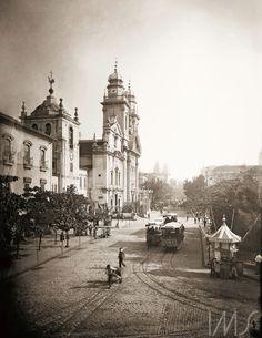 Marc Ferrez. Largo do Paço e rua Primeiro de Março. c. 1890. Rio de Janeiro. Brasiliana Fotográfica