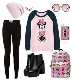 Black.Pink♡♡♡ by danihemmingsbiebs on Polyvore featuring polyvore, fashion, style, Uniqlo, Noor Fares and Phase 3