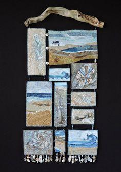 Fiber Art Quilts-Rhythm of the Sea