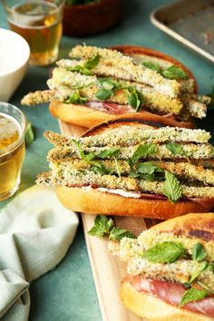 Crunchy Asparagus and Prosciutto Sandwiches