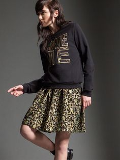 "Naughty Dog FW1516 ""Love Me"" sweater and precious jacquard lurex skirt"