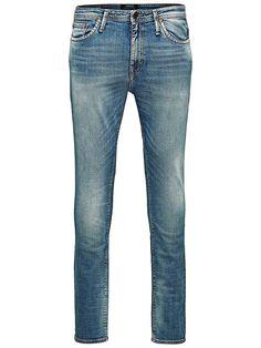PREMIUM by JACK & JONES - Skinny-Fit-Jeans von PREMIUM - Low rise - Schmale Oberschenkel- und Knieform - Enger Beinabschluss - Hosenschlitz mit Reißverschluss - Klassisches 5-Taschen-Modell - Stretch-Qualität  Der klassische Look dieser Skinny-Fit-Jeans, einem italienischen Design, ist clean und sitzt auf dem Punkt. Durch die Beigabe von Elastan erhält das Denimgewebe optimale Elastizität. Die ...