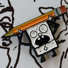 This Doodlebob pin for when you're feeling sketchy. | 21 '90s Pins That Are The Ultimate Throwback