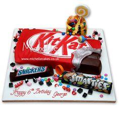 Cake Wrecks - Home - Sunday Sweets: Candy! Cute Cakes, Pretty Cakes, Yummy Cakes, Candy Cakes, Cupcake Cakes, Food Cakes, Mini Cakes, Chocolate Bar Cakes, Chocolate Heaven