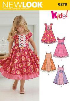 8360cabb72a5 Платье для девочки Vestido Floral, Full Skirt Dress, Fancy Dress, Kids Clothes  Patterns