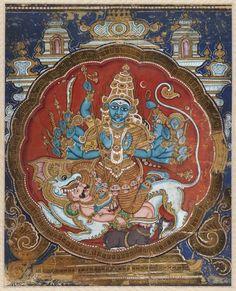 Goddess Durga Killing Mahishasura (The Buffalo Demon) - 19th Century