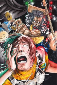 """""""NB : This is only Fanart drawned by myself to pay tribute to IRON MAIDEN. Eddie and IRON MAIDEN logo belong exclusively to IRON MAIDEN HOLDINGS. No commercial or advertising use is allowed to any ..."""