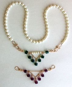 Interchangeable Necklace made with WigJig jewelry tools, jewelry wire, beads and common jewelry supplies.