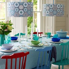 Walls: New Wallpaper Uses....Lampshades