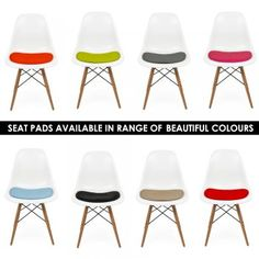 Charles Eames Seat pad Cushions for Side Chair - Charles Eames from Cult Furniture UK