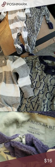 Burts bees baby outfits These are 2 newborn size baby outfits. They grow so fast so I barely wore them still in great condition ! Burt's Bees Baby One Pieces Footies