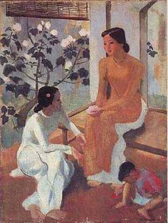 Paintings by To Ngoc Van - women in traditonal Ao Dai