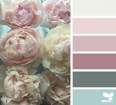 Explore Design Seeds color palettes by collection. Colour Pallette, Color Palate, Colour Schemes, Color Patterns, Color Combinations, Shabby Chic Colors, Shabby Chic Decor, Wedding Shabby Chic, Color Concept