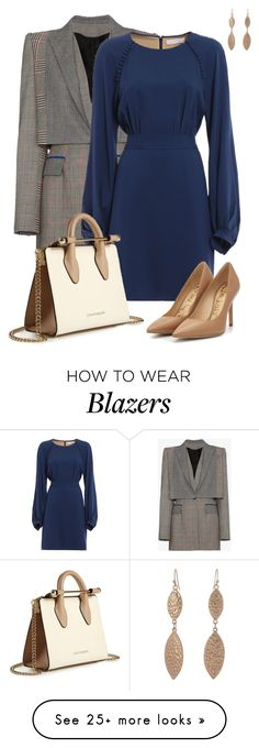 """Blue Dress"" by gracecar3 on Polyvore featuring Alexander McQueen, Chloé and Strathberry"