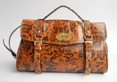 a118867057 New Mulberry Alexa Bag Leather Leopard Orange Black