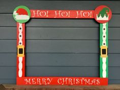 Christmas Photobooth - Christmas Photo Frame Prop - Santa Photo Booth - Holiday Party Photo