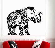 Decorated Ganesha Wall Decals Indian by WallDecalswithLove on Etsy