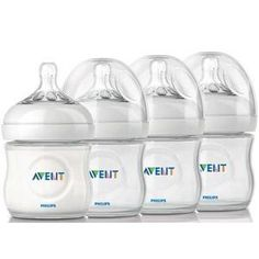 Amazon.com : Philips AVENT Natural Polypropylene Bottle, Clear, 4 Ounce, 4 Count : Baby Bottles : Baby