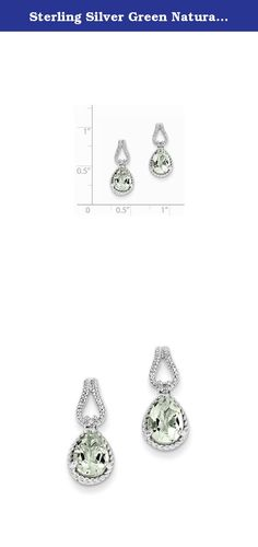 Sterling Silver Green Natural Quartz And Natural Diamond Earrings. Look fashionable with these Green Quartz and Diamond Earrings is crafted delicately from sterling silver. This versatile earrings set makes a great addition to any woman's jewelry collection. Item Weight: 2.2 Gm Length: 17 Mm Width: 8 Mm Earring Closure: Post \u0026 Push Back Average Weight: 2.20 Gm Attributes: * Polished * Post * Sterling Silver * Diamond * Dangle * Rhodium Plated * Green Quartz * Pear Metal: Sterling…