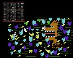text music by goto80 (defmon) ++++++  text graphics by raquel meyers (petscii brush)