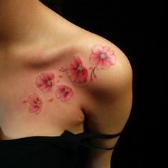 clavicle tattoo cherry blossoms amazing tattoos for women