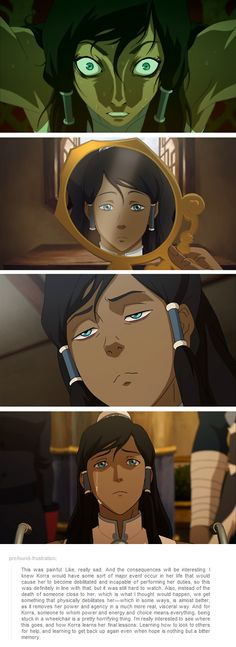 This was painful. Like, really sad. Korra. Book 3 finale