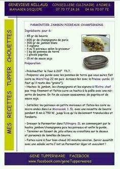 Parmentier jambon poireaux et champignons - Plat - Tupperware