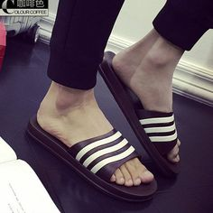 Image result for Unisex New Fashion Men Shoes Summer Slippers Beach Men Slippers Casual Slippers Lovers Three Stripe Outdoor slipper #outdoorfashion