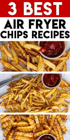 Looking for the BEST air fryer chips recipes? Here's how to make chunky chips, French fries and crinkle-cut fries in the Ninja Foodi XL air fryer. You can use whichever air fryer you like to make these. They're much healthier and quicker than deep-fried chips! Fried Chips, Crispy Chips, Crispy French Fries, French Fries Recipe, Gluten Free Recipes For Dinner, Easy Dinner Recipes, How To Make Chips, Air Fryer Chips, Perfect French Fries