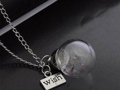 Halskette Kette ✪ echte Pusteblume - wish