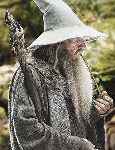 gandalf, the hobbit an unexpected journey, the hobbit the desolation of smaug, the hobbit the battle of five armies and the lord of the rings the fellowship of the rings. in the others he isn't gandalf the grey anymore Lord Of Rings, Fellowship Of The Ring, The Lord Of The Rings, Jrr Tolkien, Lotr, Midle Earth, John Howe, Beau Film, Elfa