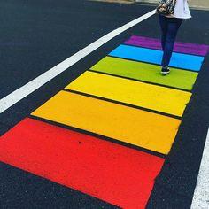 From @tjhfx - Rainbow Crosswalk at Spring Garden and Barrington. #LoveThisTown @downtownhalifax @discoverhalifax @haligonia.ca…