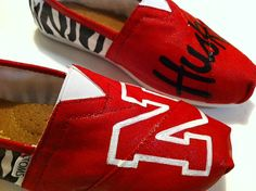 Hey, I found this really awesome Etsy listing at http://www.etsy.com/listing/159618782/nebraska-huskers-toms