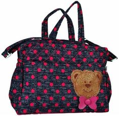 Advance Blue & Pink Baby Teddy Applique Diaper Bag @ Rs.777