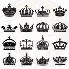 Silhouette Crowns Digital Clip Art Crown Clipart Decorative Scrapbook Embellishment Design Elements Commercial Personal Use 10172. $5.90, via Etsy.