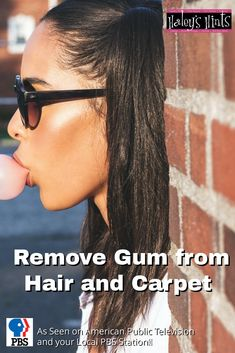 Remove Gum from Hair and Carpet. Gum in your hair or on the carpet? Don't cut it out! Try these hacks, remove that gum from your kid's hair and, off the carpet.
