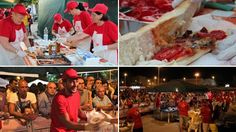 "Images from the ""festival of grandmother's sandwiches"" in south Italy"