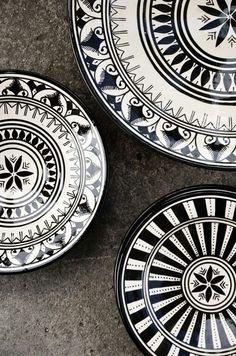 Black and white china pattern